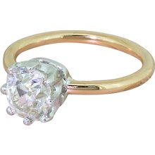 Mid Century 1.83 Carat Old Cut Diamond Engagement Ring, circa 1950