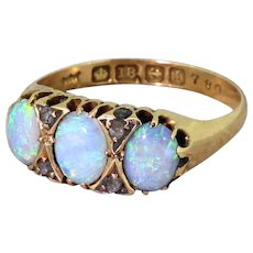 Edwardian Opal & Diamond Ring, dated 1910