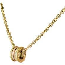 BULGARI B.zero1 Pavé Diamond Pendant, 18k Yellow Gold