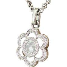 CHOPARD Happy Diamonds Flower Pendant, 18k White Gold