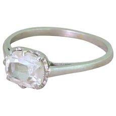 Art Deco 1.15 Carat Old Oval Cut Diamond Engagement Ring, circa 1935