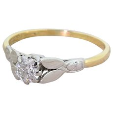 Art Deco 0.35 Carat Old Cut Diamond Engagement Ring, circa 1925
