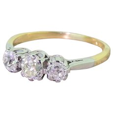 Victorian 1.30 Carat Old Cut Diamond Trilogy Ring, circa 1900