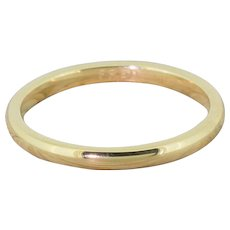 FRED PARIS 18k Yellow Gold Wedding Band