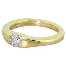 BOODLES 0.32 Carat Round Brilliant Diamond Solitaire Ring, 18k Gold