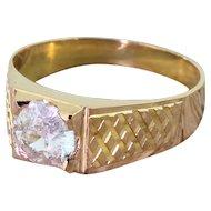 Late 20th Century 1.03 Carat Old Cut Diamond Solitaire Ring, circa 1975