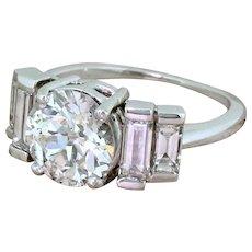 Art Deco 2.35 Carat Old Cut Diamond Engagement Ring, circa 1935