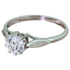Art Deco 0.70 Carat Old Cut Diamond Engagement Ring, circa 1925