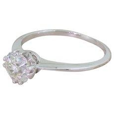 Art Deco 1.21 Carat Old Cut Diamond Engagement Ring, circa 1920