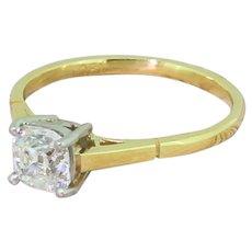 Art Deco 0.88 Carat Old Cut Diamond Engagement Ring, circa 1935