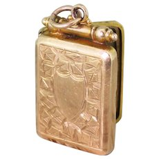Edwardian 9k Gold Locket, dated 1911