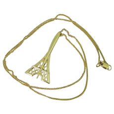 FRED of PARIS Eiffel Tower Pendant, 18k Yellow Gold