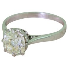 Art Deco 1.81 Carat Old Cut Diamond Engagement Ring, circa 1930