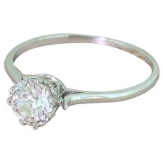 Art Deco 0.74 Carat Old Cut Diamond Engagement Ring, circa 1930