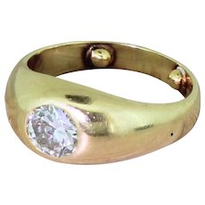 Early 20th Century 1.15 Carat Old European Cut Diamond Solitaire Ring, circa 1920