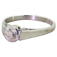 Art Deco 0.62 Carat Old Cut Diamond Engagement Ring, circa 1930
