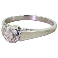 Art Deco 0.62 Carat Old Cut Diamond Engagement Ring, circa 1930
