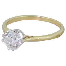 Art Deco 0.70 Carat Old European Cut Diamond Engagement Ring, circa 1925