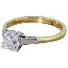 Art Deco 0.68 Carat Old Cut Diamond Engagement Ring, circa 1915