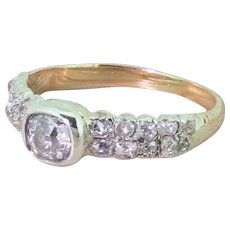 Victorian 1.60 Carat Old Cut Diamond Ring, circa 1880