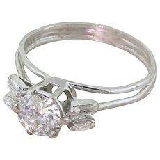 Late 20th Century 1.07 Carat Old European Cut Diamond Ring, circa 1975
