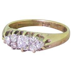Victorian Old Cut Diamond Seven-Stone Cluster Ring, circa 1870