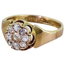 Victorian 0.71 Carat Old Cut Diamond Cluster Ring, circa 1860