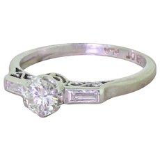Art Deco 0.40 Old European Cut Diamond Engagement Ring, circa 1930