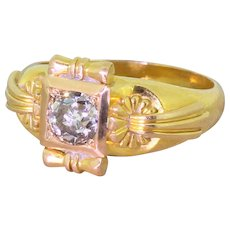 Victorian 0.87 Carat Old Cut Diamond Solitaire Engagement Ring, circa 1900