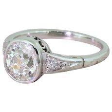 Art Deco 1.30 Carat Old Cut Diamond Engagement Ring, circa 1915