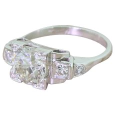 KUTCHINSKY 1.77 Carat Old Cut Diamond Engagement Ring, circa 1950