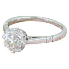 Art Deco 1.50 Carat Old Cut Diamond Engagement Ring, circa 1925