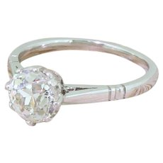 Art Deco 1.50 Carat Old Cut Diamond Engagement Ring, circa 1925
