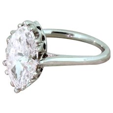 Art Deco 2.00 Carat Old Marquise Cut Diamond Engagement Ring, circa 1935