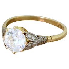 Art Deco 1.57 Carat Old European Cut Diamond Engagement Ring, circa 1925