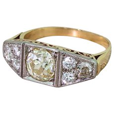 Art Deco 1.62 Carat Old Cut Diamond Ring, circa 1940