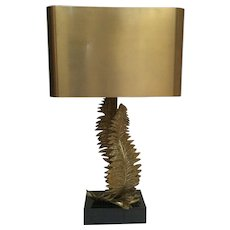 A Fern Shaped Bronze Table Lamp, manner of Maison Charles