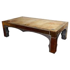 A RODOLFO DU BARRY MASSIVE  ORIENTALIST COFFEE TABLE