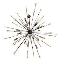 A murano massive Italian sputnik style chandelier,with alambicchi spikes,140 cm diameter