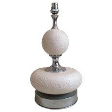 A MAISON BARBIER Tbale Lamp made of an off eggshell  resine