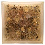 """ARMAN """"Temps  2  """" (MECANISMES DE MONTRES / ACCUMULATION DE ROUAGES) 1975-19762 sculpture"""