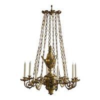 Elegant gilt George IV chandelier