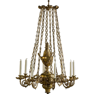 Elegant gilt George IV chandelier