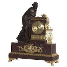Large Bronze Clock in Magnificent Quality, France 1820