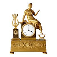 Gilt bronze clock, France 1810