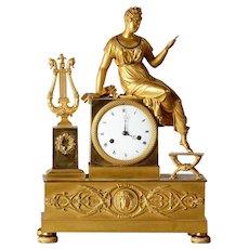 Gilt bronze clock, France 1810