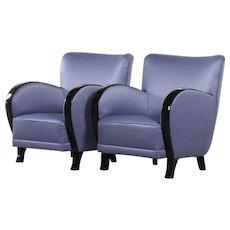 Pair of Art Deco armchairs