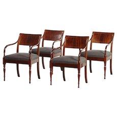 4 elegant Empire armchairs