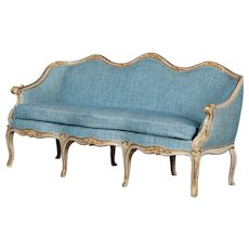 Danish Rococo sofa, Denmark 1750-1770