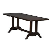 """Long table with """"Shoe base"""" in Narra Hardwood"""